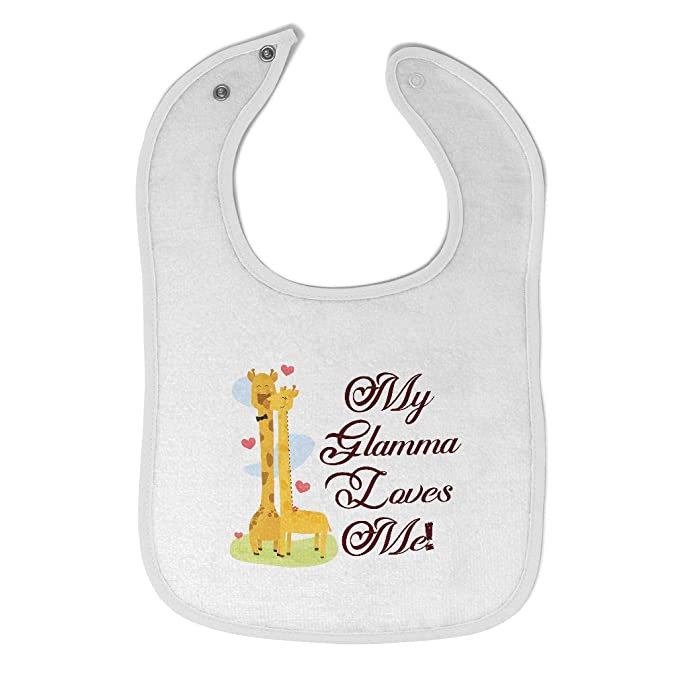 Toddler /& Baby Bibs Burp Cloths My Gigi Loves Me Mothers Day Grandma Cotton Items for Girl Boy A White Custom Text Here
