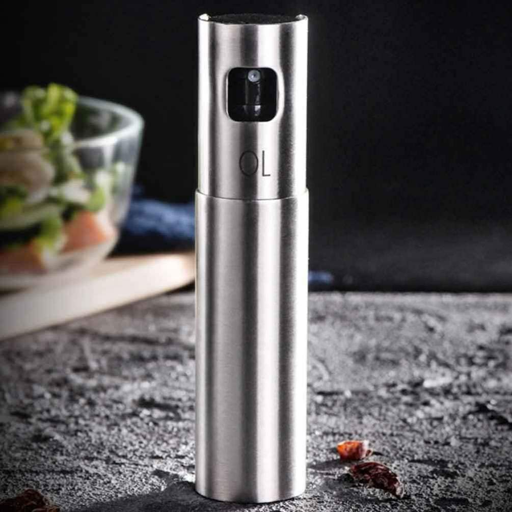 Garneck Oil Sprayer Olive Oil Dispenser Mist Spray Dispenser Stainless Steel Oil Bottle for BBQ Salad Baking Roasting Kitchen Tools