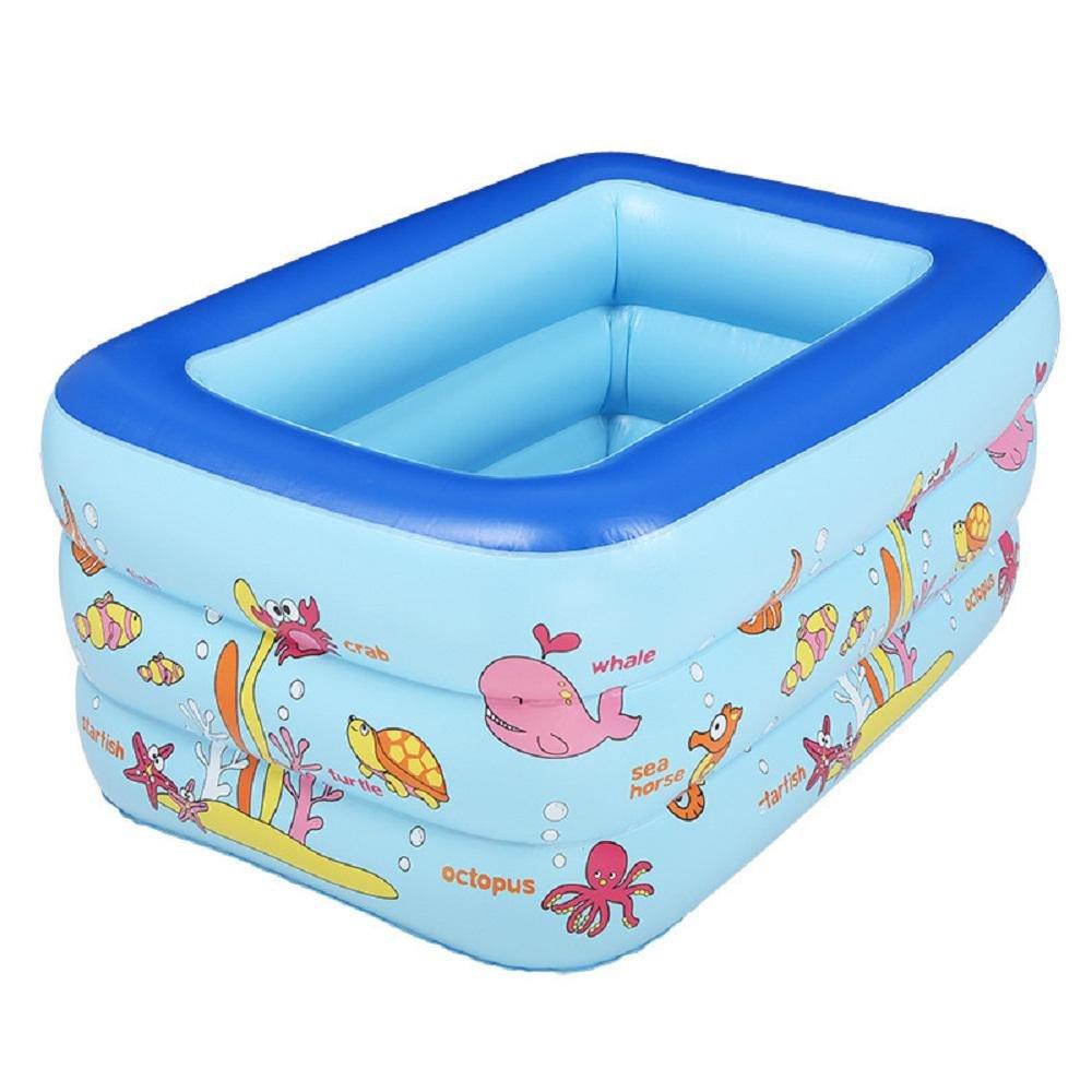 Kinder Karikatur PVC aufblasbaren Pool Kind Planschbecken Badewanne Quadrat Qualität für Kinder (Farbe zufällig) , 200cm