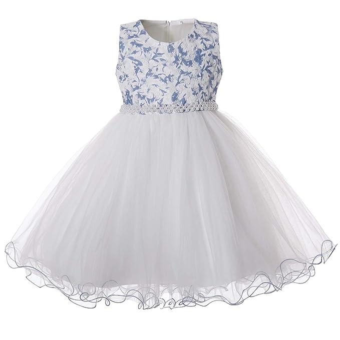 174dcf0af7d5 CIELARKO Vestito Principessa Bambina Floreale Abiti Formale Tulle Vestiti  Cerimonia Ragazza Elegante per 2 to 11