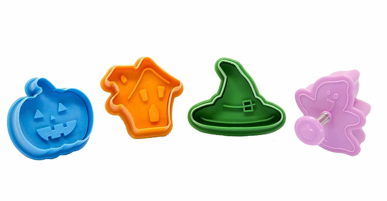 DeColorDulce Halloween Set cortadores y marcadores Galleta ABS,, 28x10x3 cm, 4 Unidades Silicone Gold SG1074