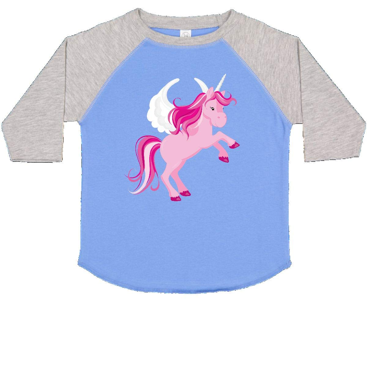 inktastic Pink Unicorn with Wings Toddler T-Shirt