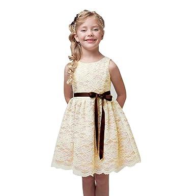 Mädchen Prinzessin Kleid, Dasongff Kinder Mädchen Spitze Sommerkleid ...
