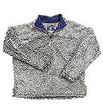Live Oak Quarter Zip Pullover Fleece-Grey/Navy-large