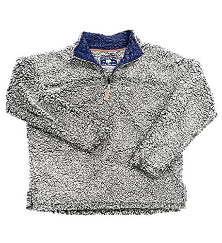 Live Oak Quarter Zip Pullover Fleece-Grey/Navy-medium by Live Oak