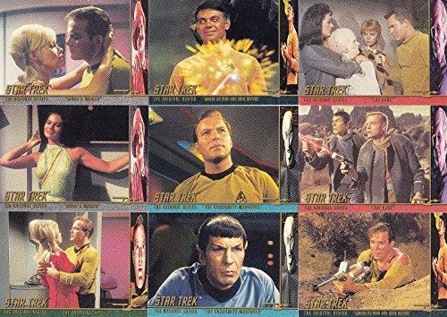 STAR TREK THE ORIGINAL SERIES TOS 1 1997 CHARACTER LOG INSERT CARD SET C1 - C58