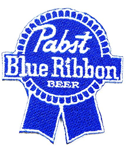 pabst-blue-ribbon-pbr-beer-embroidered-iron-on-beer-patches-approx275-x-3-by-mnc-shop