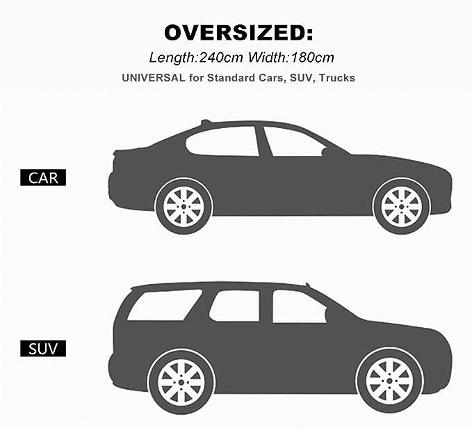 Amazon.es: iZoeL Parabrisas sun protect nieve protector solar parabrisas cubierta parasol para el coche auto universal medio coche cubre para hielo ...