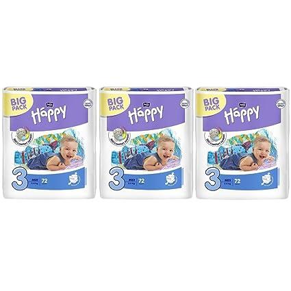 Bella Baby Happy Midi pañales Talla 3 meses Box 5 – 9 kg – Pack (