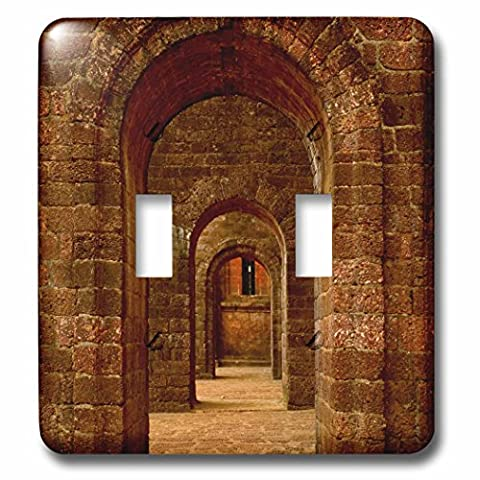 Danita Delimont - Architecture - Arched path at the Basilica of Bom Jesus, Goa - Light Switch Covers - double toggle switch - Goa Light