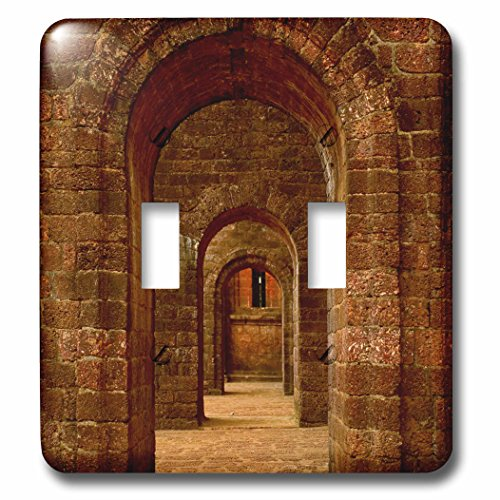 Danita Delimont - Architecture - Arched path at the Basilica of Bom Jesus, Goa - Light Switch Covers - double toggle switch (lsp_225607_2) by 3dRose
