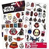 Star Wars Tattoos - 75 Assorted Temporary Tattoos ~ Kylo Ren, Rey, Captain Phasma, Stormtroopers, BB-8, and More! by Disney Studios
