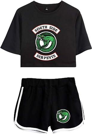 Riverdale Crop Top T-Shirts y Shorts Set para Niña y Mujer ...