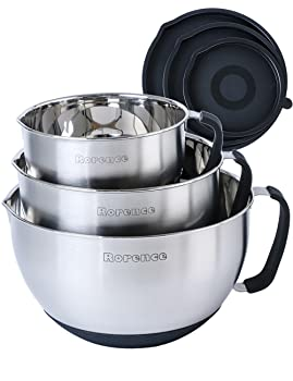 Rorence Non-Slip Mixing Bowls With Pour Spout