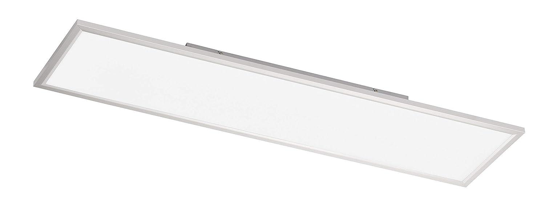 WOFI Deckenleuchte, Metall, Integriert, 36 W, Silber, 120 x 30 x 6.5 cm