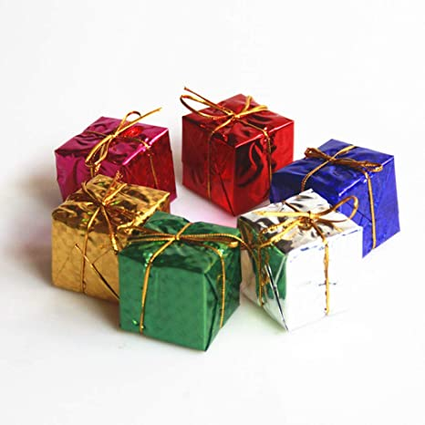 Amazon.com: Miaomiaogo 6PCS/Set 6CM Colorful Christmas Tree Decorations Mini Gift Box Ornaments New-Year Hanging Decor Xmas Party Supply: Home & Kitchen