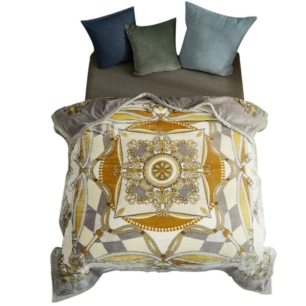 HSBAIS 寝具柔らかい暖かい冬毛布 小さい毛布キングサイズ - 赤ちゃんのアダルトベッドブランケットのためにラッシェルが豪華な洗濯可能な洗濯暖かいシート,yellow_200*230cm B07K76M6GV Yellow 200*230cm