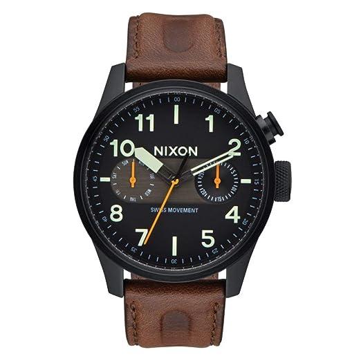 NIXON Reloj Analógico para Hombre de Cuarzo con Correa en Acero Inoxidable A9772344: Amazon.es: Relojes