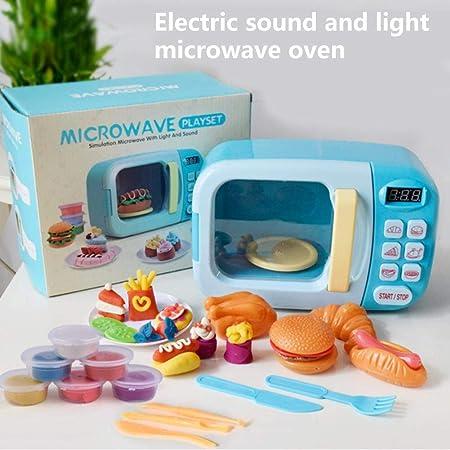 xiangpian183 Vajilla de microondas Juguetes de Cocina Juego de Utensilios de simulación Juguete Juego de Utensilios de Cocina pequeños para el hogar ...