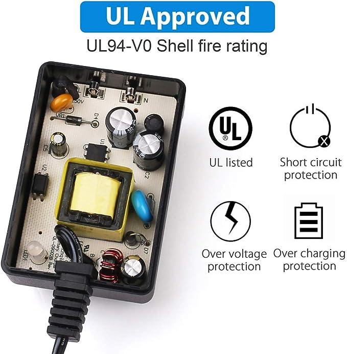 Amazon.com: LotFancy 12 Volt 12 V 1.0 A 1000 mA 3prong ...