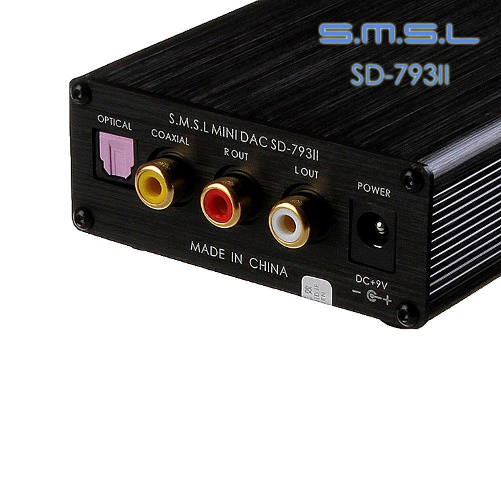SMSL SD de 793ii óptico coaxial DAC Digital Analog corriente Auriculares Amplificador Integrado, color negro: Amazon.es: Electrónica