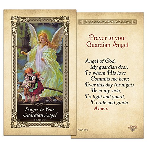 Guardian Angel Laminated Holy Card - Pack of 25