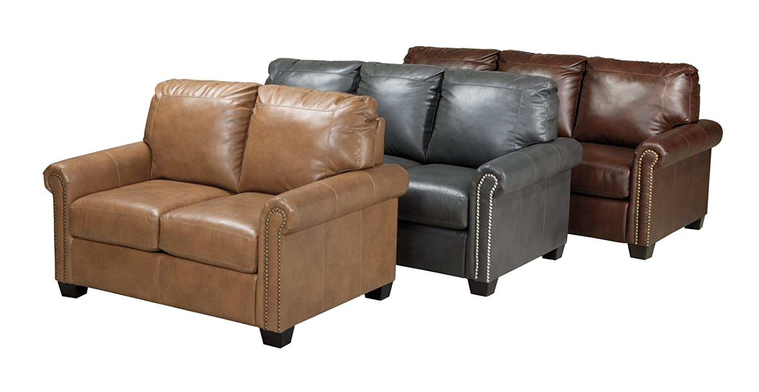 Amazon.com: Ashley Furniture Signature Design   Lottie Sleeper Sofa Love  Seat   Twin Size   Chocolate: Kitchen U0026 Dining