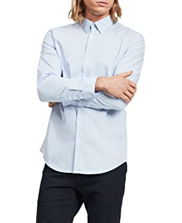 23f3c6aa2d78 Calvin Klein Men's Long-Sleeve Button Down Solid Shirt at Amazon ...