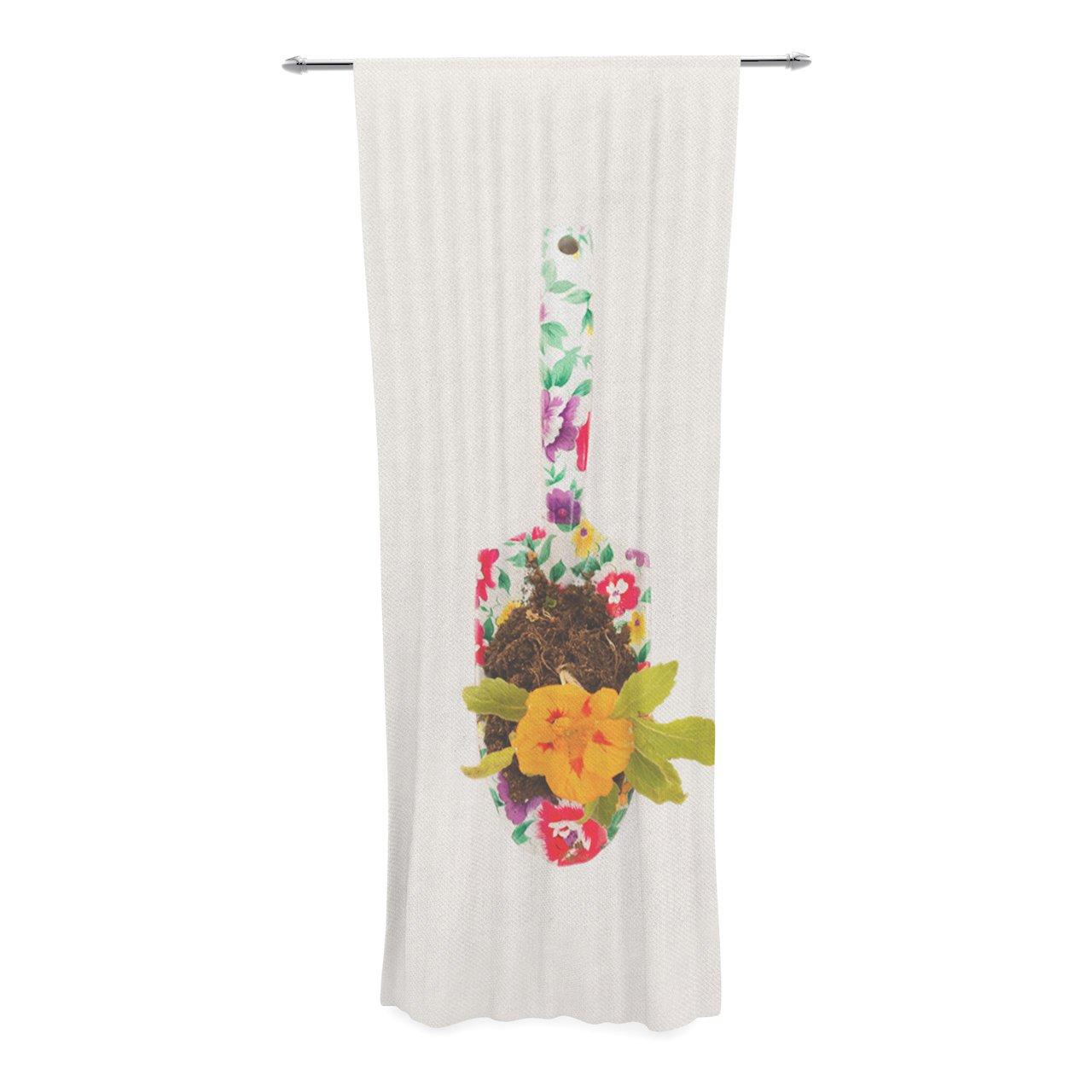 Kess InHouse Ingrid Beddoes The Gardener Sheer Curtains 30 x 84