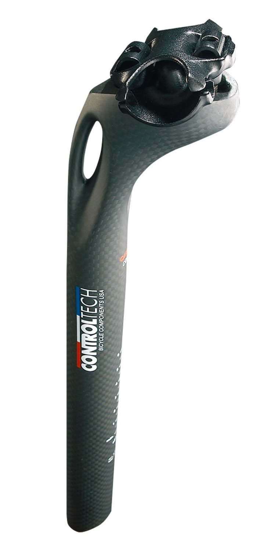 Control Tech TNA Mountain Bike 0mm Offset Bike Seatpost, 27.2 x 350mm, Anodized Black