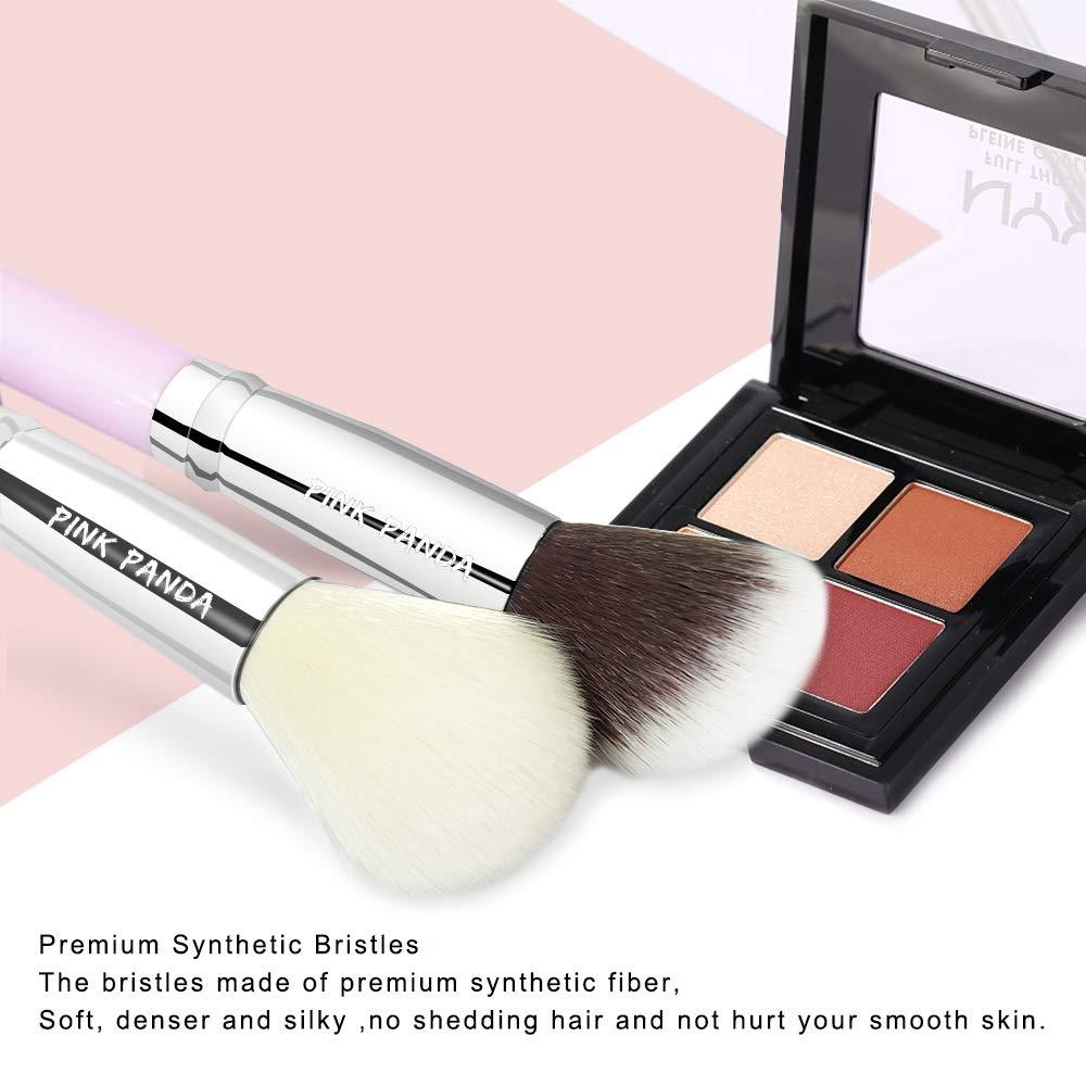 64fc187b64f9 PINKPANDA Makeup Brushes 7 Pcs Honey Pink Professional Makeup Brush Set  Premium Synthetic...