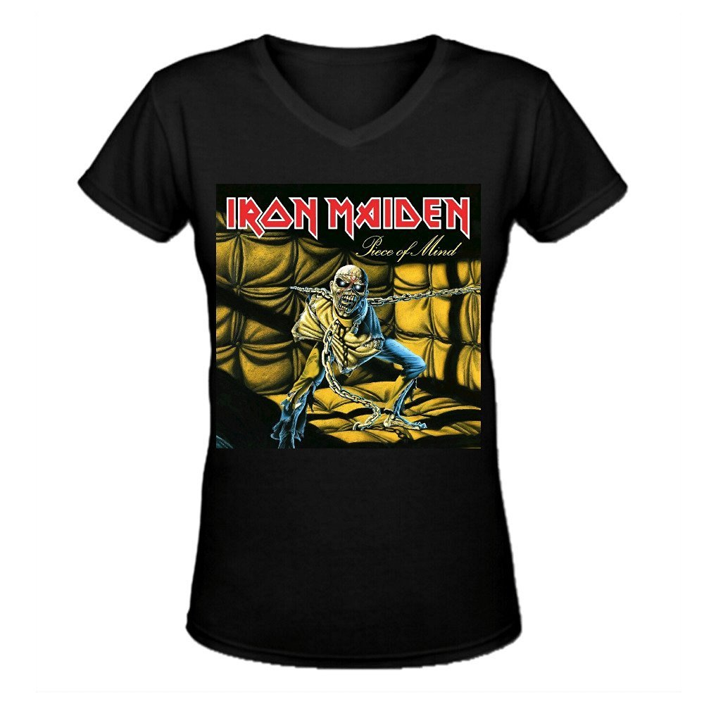 Iron Maiden Piece Of Mind Casual ladies V-Neck T-Shirt