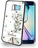 Custom Flowers with Disney Font Cute Personalized Cell Phone Case for Samsung Galaxy S4, S5, S6, S6 Edge, S7, Note 5