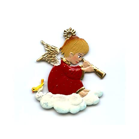 Amazon.com: Angel With Telescope- German Pewter Christmas Ornament ...