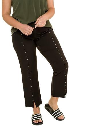 Studio Untold Damen große Größen 7 8-Hose mit Perlen schwarz 50 716545 10 c5c87b07d6