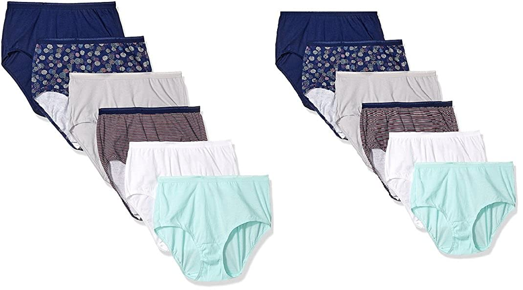 ee1198771 Fruit of the Loom Women s 6 pack Cotton Brief Panties at Amazon Women s  Clothing store
