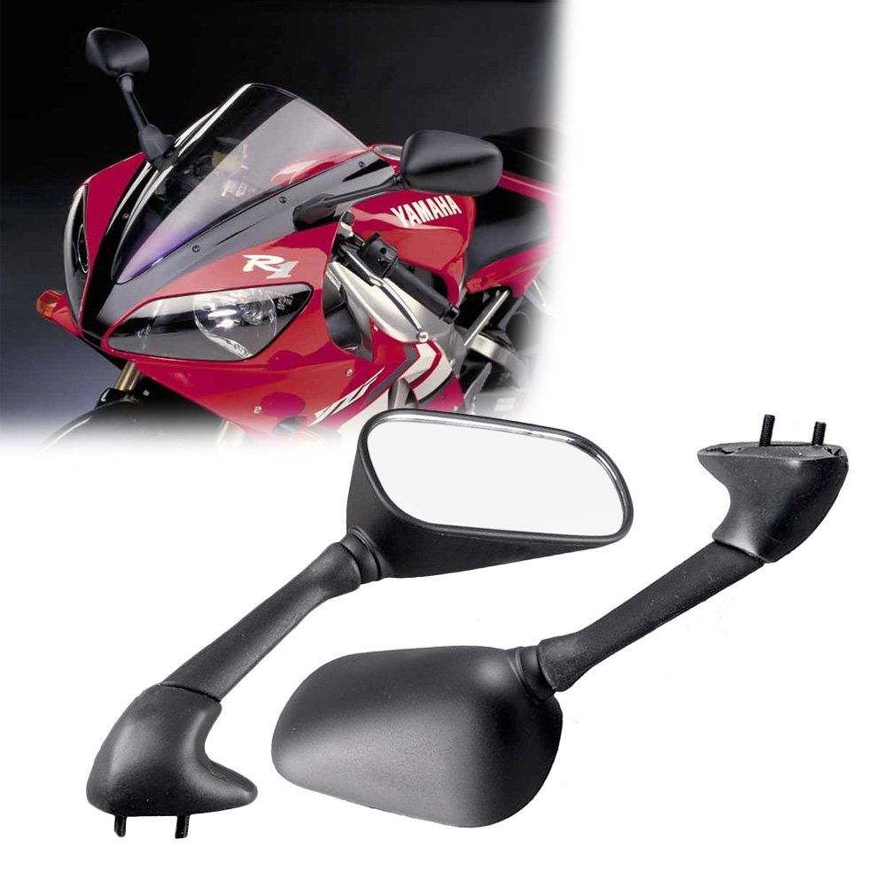 GZYF Pair Rear View Mirrors for Yamaha YZF R1 /& YZF R6 2001 2002 2003
