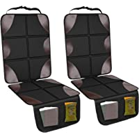 2-Pack Smart elf Durable Waterproof 600D Fabric Car Seat Protector with Non-Slip Backing and Mesh Pockets