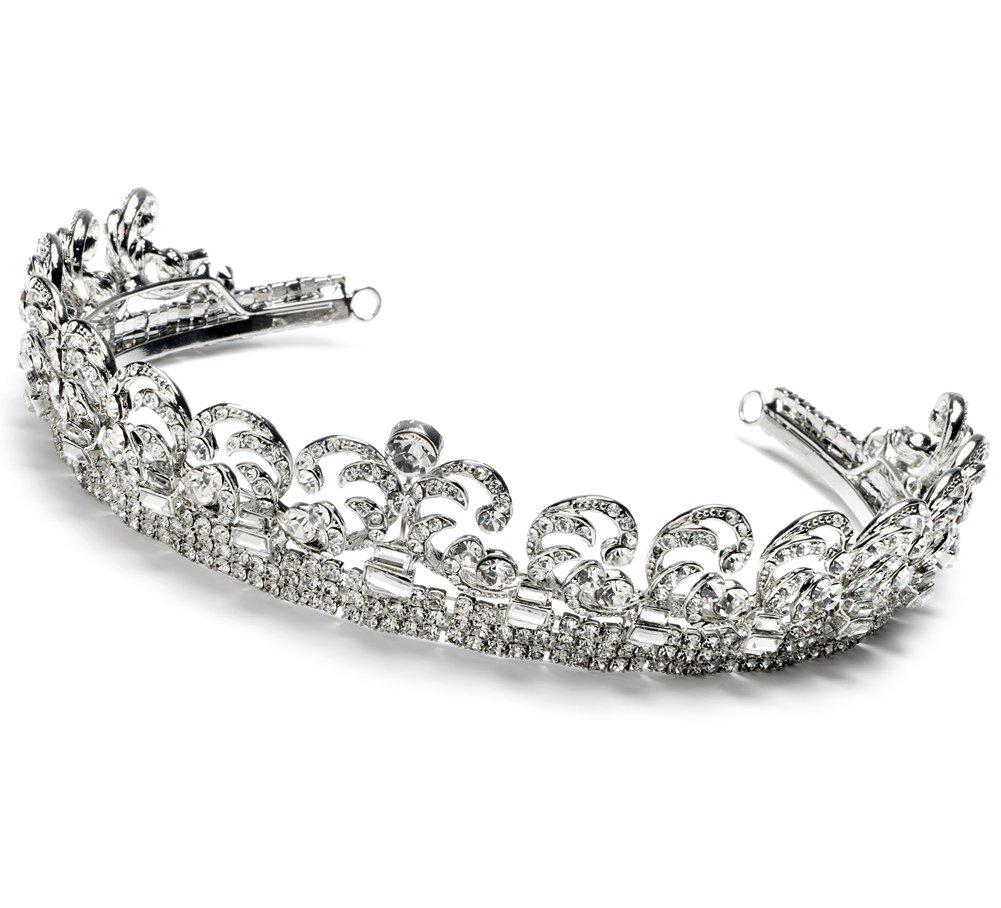 USABride Royalty Bridal Crown, Kate Middleton Royal Wedding Tiara 3067