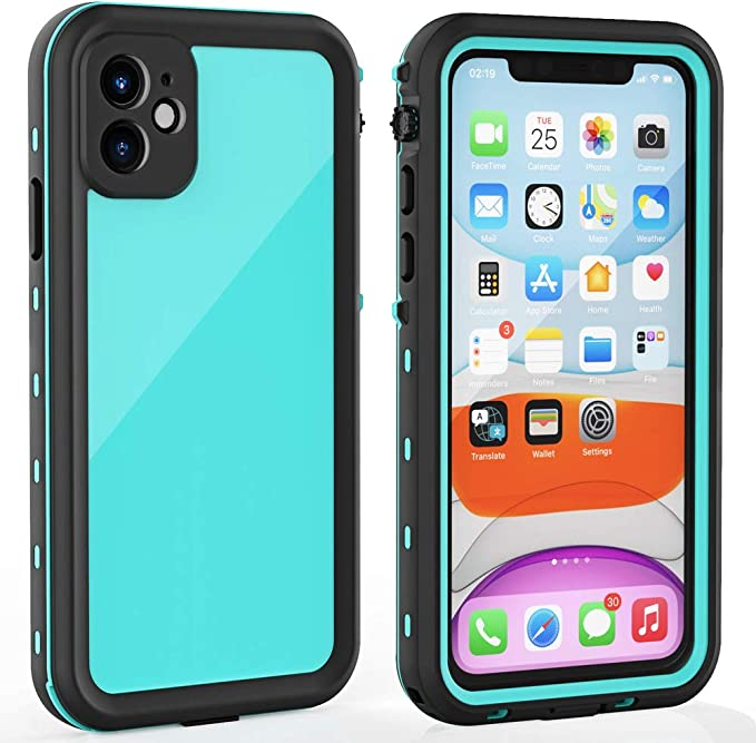 Amazon.com: iPhone 11 Waterproof Case with Screen Protector Full Body Protector Shockproof Dustproof Dirtproof Heavy Duty IP68 Waterproof Case for iPhone 11(6.1inch) (Teal)