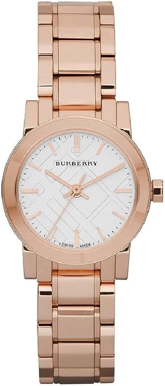 Burberry BU9204–Reloj de Pulsera de Mujer, Correa de Acero Inoxidable Color Dorado