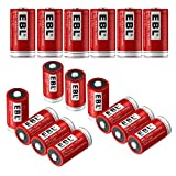 EBL RCR123A Batteries (16 PCS) 750mAh Lithium-ion 16340 Rechargeable Batteries for Flashlight Arlo Wireless Security Cameras