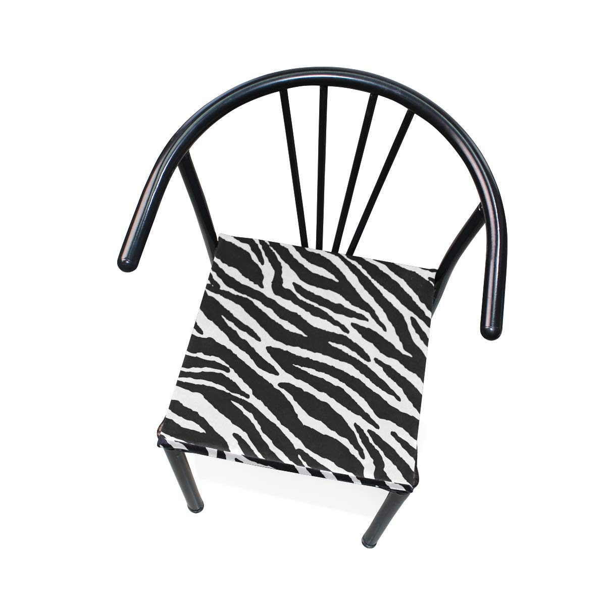 TSWEETHOME Comfort Memory Foam Square Chair Cushion Seat Cushion with Animal Skins Zebra Print Chair Pads for Floors Dining Office Chairs by TSWEETHOME (Image #5)