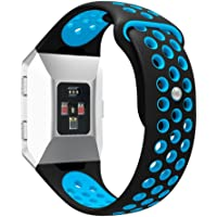 for Fitbit Ionic Watch Band, Ausexy Fashion Double Color Sports Silicone Fitness Replacement Bracelet Strap Band Air Hole Accessory Wristband for Fitbit Ionic