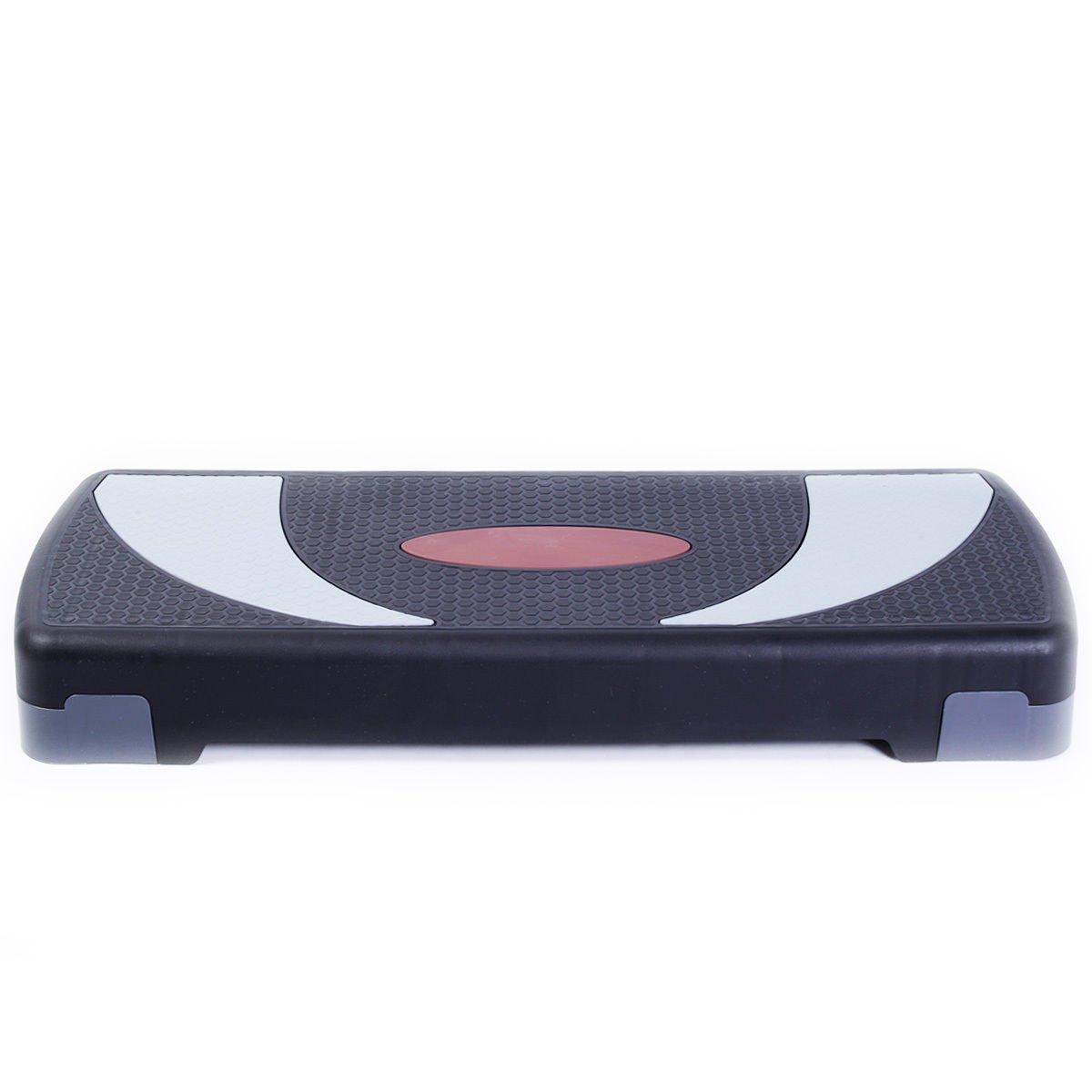 Fitness 30'' Aerobic Step Exercise Stepper Platform Adjust 4''- 6''- 8'' w/ Riser