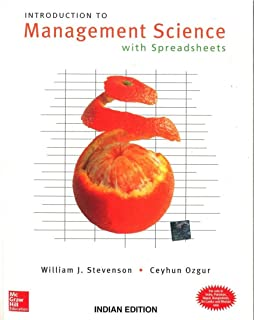 Introduction to management science william j stevenson introduction to management science with spreadsheets and student cd fandeluxe Image collections
