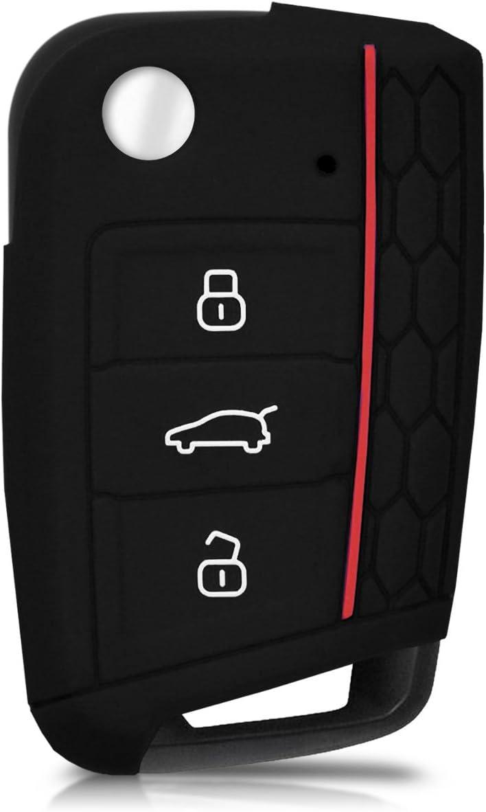 kwmobile Funda Compatible con Llave de 3 Botones para Coche VW ...