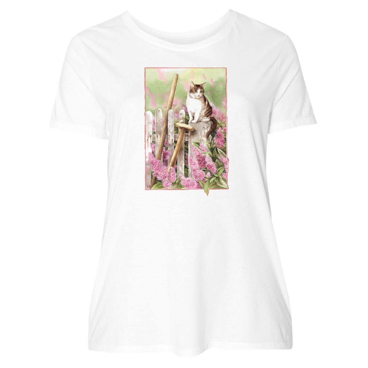 inktastic Cat on a Fence Baby T-Shirt Marjolein Bastin
