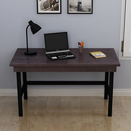 Tribesigns 55u201d Large Computer Desk With Pull Out Keyboard Tray, Industrial  Style Writing
