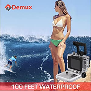DEMUX 4K Action Camera   WiFi Sports Digital Cam   Waterproof/Underwater/Ultra HD/16MP/2.4G Remote/170 Wide Angle/30-60FPS/LCD/2 Rechargeable Batteries/Accessories   ES8000–2018 Extreme Sports Edition